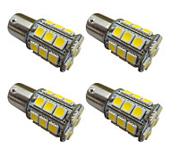 4PCS 1156  Ba15s / BAY15D 1157 3W LED Car Light Bulb 27 SMD 5050 Tail Light / Brake / Turn / Stop Light DC 12V white/warm white