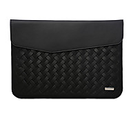 For MacBook Pro Air 13.3  Inch Sleeves PU Leather Simple Portable Notebook Bag Solid Color Laptop Sleeves 13.3