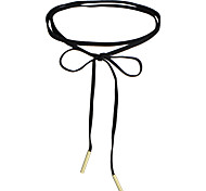 Women's Girls Choker Necklaces Jewelry Round Lace Basic Circular Ribbons Heart Cute Style Vintage Personalized Simple Style Jewelry For