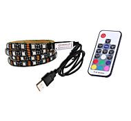 cheap -BRELONG USB 5050 RGB Strip Lights 5V TV Background Waterproof 1M 30 Leds with 17Key Controller