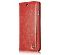 Para iphone7 más las cajas magnéticas del teléfono del tirón para iphone7 cuero genuino funda de la caja del cuero genuino