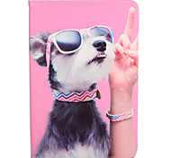 cheap -Case For Apple iPad Mini 4 iPad Mini 3/2/1 with Stand Flip Pattern Full Body Cases Dog Hard PU Leather for iPad Mini 4 iPad Mini 3/2/1