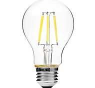 6W E27 LED Filament Bulbs A60(A19) 6 COB 450 lm Warm White White 2700-3500   6000-6500 K Dimmable V