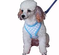 Недорогие -Собака Ремни Поводки Компактность Дышащий Складной Безопасность Регулируется Горошек Английский Сетка Хлопок Черный Зеленый Синий Розовый