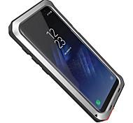 Недорогие -Кейс для Назначение SSamsung Galaxy S8 Plus S8 Вода / Грязь / Надежная защита от повреждений Чехол броня Твердый Алюминий для S8 Plus S8