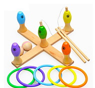 Недорогие -Набор для творчества Рыболовные игрушки Для получения подарка Конструкторы Оригинальные и забавные игрушки Дерево2-4 года 5-7 лет 8-13