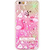 Чехол для Apple iphone 7 7 плюс фламинго цветок блеск сияние шаблон текучая жидкость жесткий ПК 6 с плюс 6 плюс 6 с 6