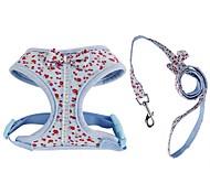 Недорогие -Собака Ремни Поводки Компактность Дышащий Складной Безопасность Регулируется Цветы Английский Бант Ткань Сетка Хлопок Синий Розовый