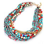 Women's Girls' Choker Necklaces Layered Necklaces Strands Necklaces Resin Alloy Unique Design Acrylic Friendship Classic Elegant Durable