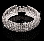 cheap -Women's Bangles Tennis Bracelet Crystal Cuff Luxury Basic Elegant Imitation Diamond Alloy Jewelry Party / Evening Daily Casual Evening