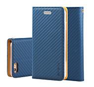 Недорогие -Для яблока iphone 7 7 плюс iphone 6s 6 плюс чехол для крышки сетчатой кожи pu кожаные чехлы