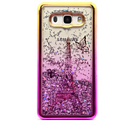 For Samsung Galaxy J5 (2016) J3 (2016) Case Cover Flowing Liquid Pattern Back Cover Case Glitter Shine Eiffel Tower Soft TPU for J3