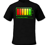LED T-shirts 100% Cotton 2 AAA Batteries High Quality Night Light