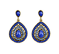 Women's Girls' Drop Earrings Acrylic Unique Design Tag Geometric Fashion Personalized Hypoallergenic Classic Feather Alloy Drop Jewelry