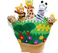 Bambole Marionetta da dito Giocattoli Rabbit Con animale Animali Bambino Pezzi