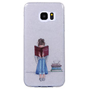 For Samsung Galaxy S8 S8 Plus Case Cove Reading Girl Pattern Flash Powder IMD Process TPU Material Phone Case S7 S6 Edge