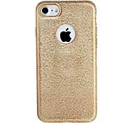 abordables -For apple iphone 7 7plus case cubierta de chapado de tapa de la caja brillo brillo de color sólido tpu suave 6s más 6 más 6 6