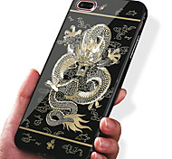Для apple iphone 7 плюс 7 чехол чехол ударопрочный металлизированный узор задняя крышка корпус животное твердый акрил