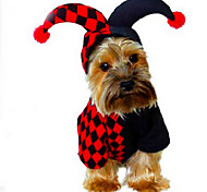 Недорогие -Собака Костюмы Плащи Одежда для собак Очаровательный Косплей На каждый день Хэллоуин геометрический сетка Костюм Для домашних животных