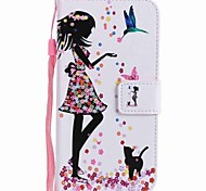 cheap -Case For Huawei P9 Huawei P9 Lite Huawei P8 Huawei Huawei P8 Lite Card Holder Wallet with Stand Flip Pattern Full Body Cases Sexy Lady