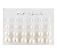 Men's Women's Stud Earrings Elegant Pearl Imitation Pearl Imitation Diamond Black Pearl Drop Ball Jewelry For Daily Casual