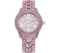 cheap -Women's Casual Watch Pave Watch Quartz Imitation Diamond Band Silver Gold Rose Gold