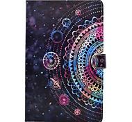 Для samsung galaxy tab t580 t560 mandala окрашенный узор pu кожаный материал плоский защитный чехол для t550 t530 t350 t280