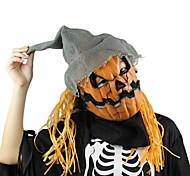 Máscara de halloween máscara de espantalho de abóbora assustador látex realista louco borracha super assustador festa máscara de traje de