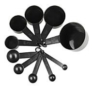 cheap -10Pcs/Set   Black Plastic Measuring Cups  Measuring Spoon Kitchen Tools Measuring Set Tools For Baking Coffee Tea