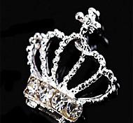 10psc New White Crown 3D Nail Art DecorationsAlloy Nail CharmsNails Rhinestones Nail Supplies