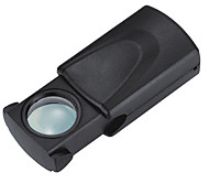 cheap -Lightweight 30 x 21mm Pull Type Eye Glass Magnifier Magnifying Jewelry Loupe with LED Illuminated Light