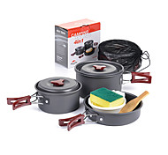 Naturehike Camping Cookware Mess Kit Sets Portable Aluminium for Camping Picnic Camping & Hiking