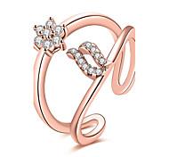 cheap -Women's Ring Cubic Zirconia Basic Unique Design Rhinestone Heart Geometric Circle Friendship Adorable Personalized Hip-Hop Hypoallergenic