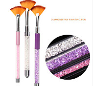 Pinpai Brand Nail Art Salon Beautiful Painting Drawing Polish Acrylic Nail Art Brush with Rhinestone Colorful Nail Brush