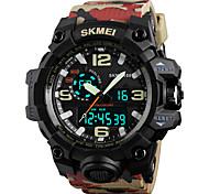 SKMEI Муж. Спортивные часы Армейские часы Модные часы Наручные часы электронные часы Японский Кварцевый LED Календарь Секундомер Защита