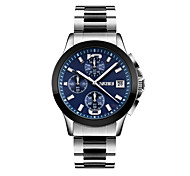 cheap -SKMEI Men's Quartz Wrist Watch Japanese Calendar / date / day / Water Resistant / Water Proof / Cool / Stopwatch Stainless Steel Band