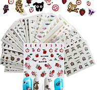 preiswerte -50pcs 3D Nagel Sticker / Aufkleber / Bastelmaterial Nagel Stamping Vorlage Alltag Modisch