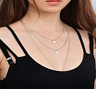 Недорогие -Жен. Медь Ожерелья с подвесками - Медь На заказ В виде подвески Euramerican Мода Ожерелье Назначение Повседневные Одежда для отдыха на