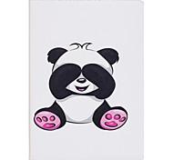 Étui pour ipad 2 3 4 air air 2 pro 9.7 '' casquette panda pattern pu matériel trois fois plat ecossais téléphone téléphone cas