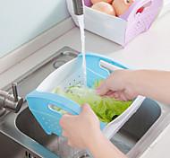 Недорогие -1шт складная кухня пластиковая мойка ящик для хранения корзина для фруктов и овощей