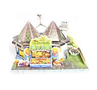 cheap -3D Puzzles Jigsaw Puzzle Paper Model Model Building Kit House Architecture Fruit 3D DIY High Quality Paper Classic Boys' Unisex Gift