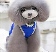 Недорогие -Собака Жилет Одежда для собак На каждый день Однотонный Серый Красный Синий Костюм Для домашних животных
