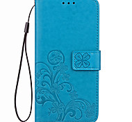 Case For Xiaomi Redmi 4X Case Cover Card Holder Wallet with Stand Flip Embossed Full Body Case Solid Color Flower Hard PU Leather