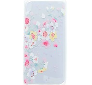 cheap -Case for Sony XA Ultra X COMPACT Cover Translucent Pattern Back Cover Case Cherry Blossom Soft TPU for Sony Xperia C6 XA E5 X PERFOR