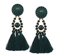 Women's Drop Earrings Jewelry Tassel Fashion Bohemian Personalized Euramerican Costume Jewelry Plastic Cotton Irregular Jewelry For