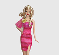 Fashion Dress Rosenball For Barbie Doll For Girl's Doll Toy