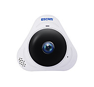 economico -escam® q8 960p 1.3mp monitor panoramico a 360 gradi fisheye wifi ir telecamera ip infrarossi con audio scheda da 128 gb tf