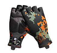 Недорогие -Спортивные перчатки Перчатки для велосипедистов Пригодно для носки Дышащий Нескользящий Прочный Без пальцев Лайкра спандекс Горные