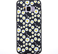 Case For Samsung Galaxy S8 S8 Plus Case Cover Chrysanthemum Pattern Scrub Black Thicker TPU Material Soft Case Phone Case
