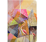 cheap -Case For Samsung Galaxy Tab A 9.7 Tab A 8.0 Card Holder with Stand Flip Magnetic Pattern Full Body Cases Flamingo Hard PU Leather for Tab